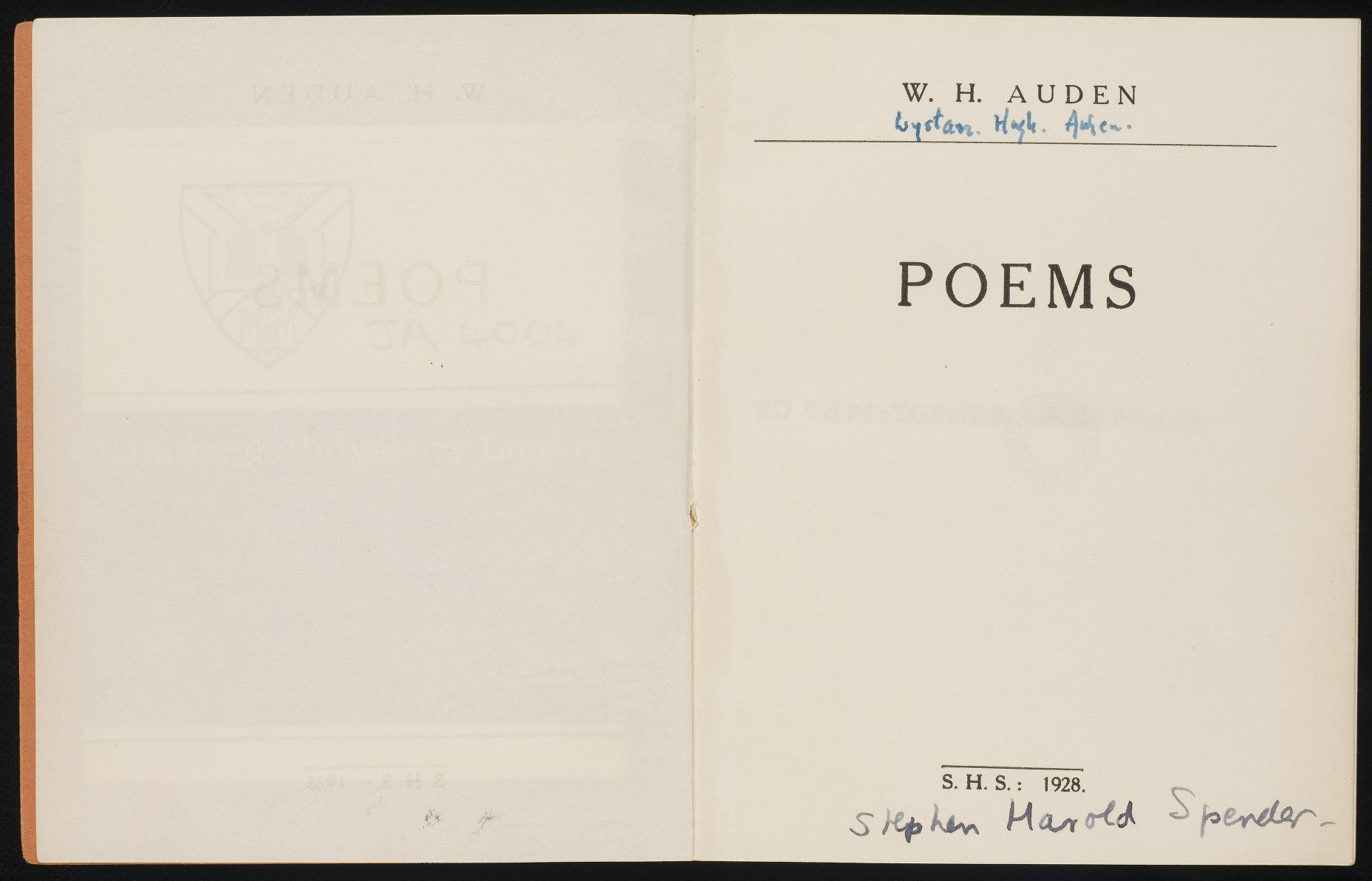 Title page from Auden's Poems