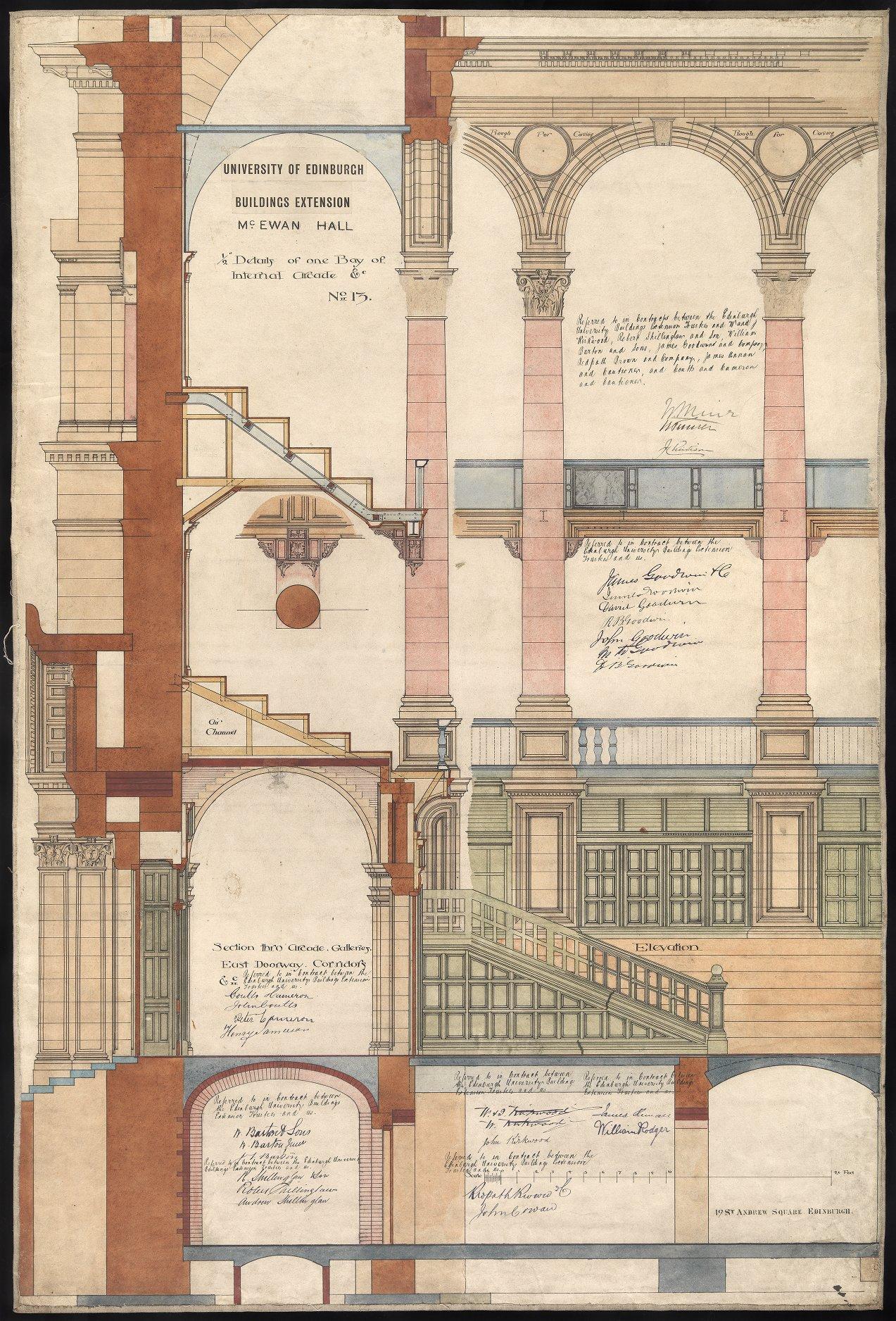 Plans for McEwan Hall