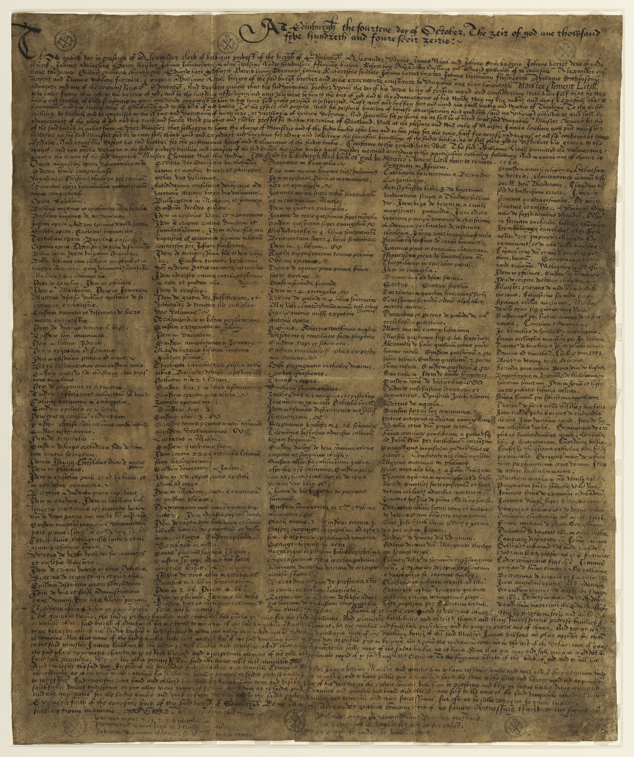 Clement Litil's Bequest Charter