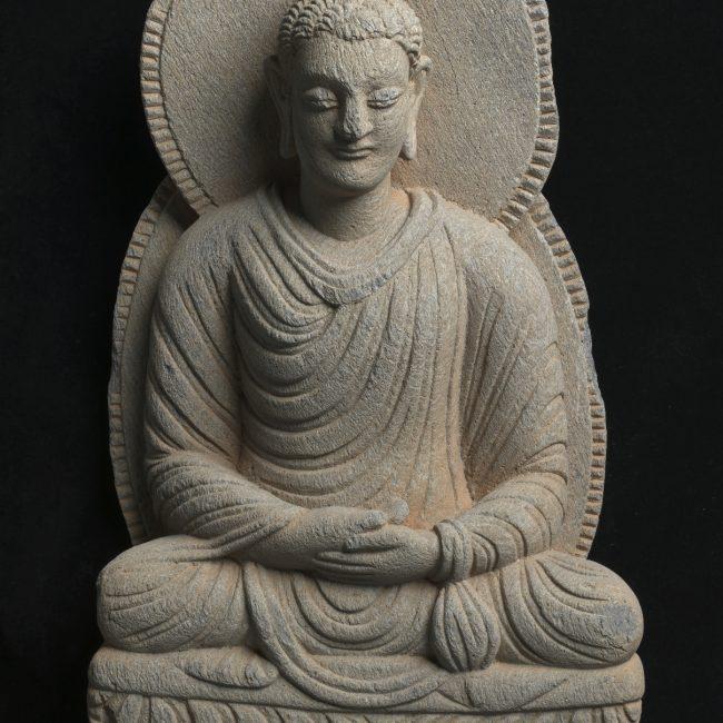 Gandharan sculpture fragments Seated Buddha