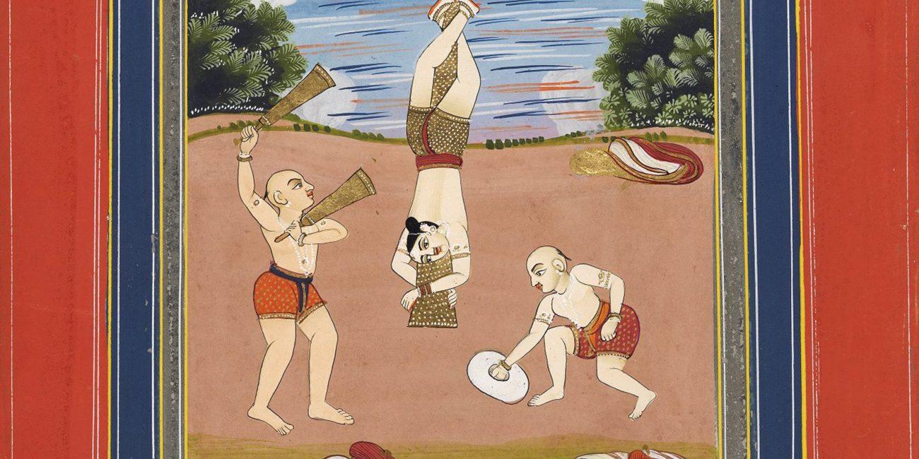 Detail of Ragamala miniature entitled 'Desakh ragini'